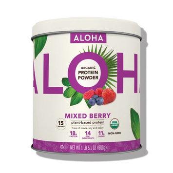Aloha Protein Powder Tin, Mixed Berry, 1.32 Lb