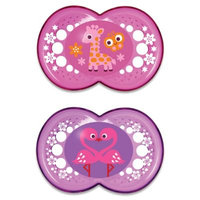 MAM Silicone Pacifier - Pink Crystal - 6+ Months - 2 ct