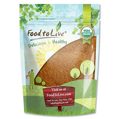 Food to Live Certified Organic Cocoa Powder (Natural, Non-Dutched, Non-GMO, Unsweetened, Fair Trade, Bulk) (4 Pounds)