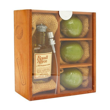 Royall Spyce by Royall Fragrances for Men 4 Piece Set Includes: 4.0 oz All Purpose Lotion + 3 Royall Lyme Soap Bars