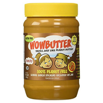 WowButter Crunchy Soy Butter Spread 17.6 oz Jars - Single Pack