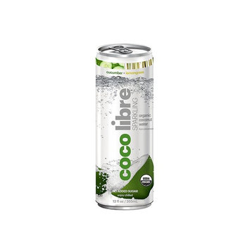 CoCo Libre Sparkling Organic Coconut Water, Cucumber Lemongrass, 12 Ounce (Pack of 12)