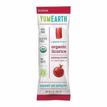 YumEarth Organic Gluten Free Pomegranate Licorice- 2 oz - 12 Count