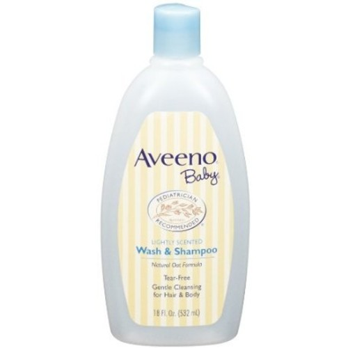 Baby / Child Pediatrician Recommended Aveeno Lightly Scented Baby Wash & Shampoo, 18-Fluid Oz. Bottle Pack Of 3 Infant