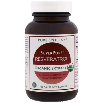 The Synergy Company, Pure Synergy, Organic Super Pure Resveratrol Organic Extract, 60 Organic Veggie Caps