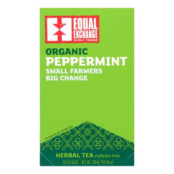 Equal Exchange Herbal Tea, Peppermint, 20 Count, 6 Pack