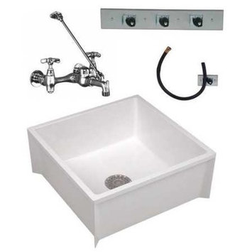 MUSTEE Mop Sink Kit,24 In L,24 In W,10 In H 63CM