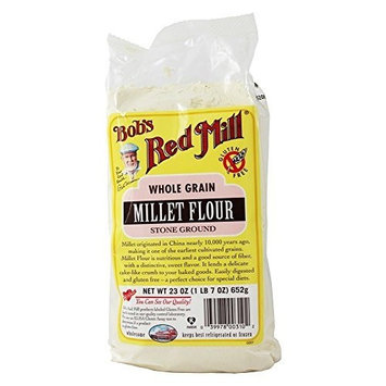 Bob's Red Mill - Gluten Free Millet Flour - 23 oz (pack of 2) by Bob's Red Mill
