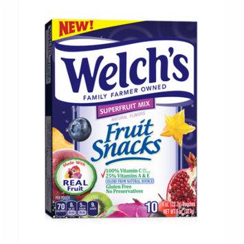 Welch's Fruit Snacks Superfruit Mix, 0.8 oz, 10 ct