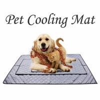 NK Pet Mat Dog Cat Cool Mat Cooling Pet Mat Mattress Cushion Heat Relief Non-Toxic Grey