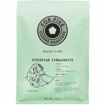 For Five Coffee Roasters Ethiopian Yirgacheffe Whole Bean