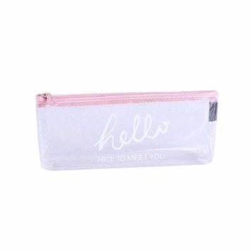Mosunx Transparent Pencil Case Cosmetic Bag Makeup Pouch Pencils Box