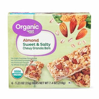 Great Value Organic Sweet & Salty Chewy Granola Bars, Almond, 6 Count