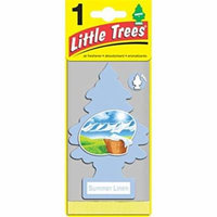 Little Trees U2S22074 Air Fresheners Summer Linen - Pack of 12 & Pack of 2