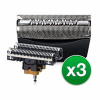 Braun 51B Replacement Cassette For WF2s Shaver Model (3 Pack)