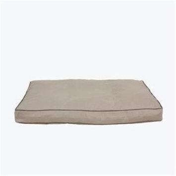 Carolina Pet 012210 MF Classic Canvas Rectangle Memory Foam Jamison Pet Bed - Khaki with Sage Cord, Large