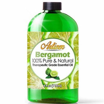 Artizen Bergamot Essential Oil (100% PURE & NATURAL - UNDILUTED) Therapeutic Grade - Huge 4oz Bottle - Perfect for Aromatherapy, Relaxation, Skin Therapy & More!
