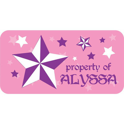 Personalized Kids Property Labels, Rock Star