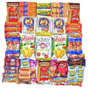 Healthy Snack Pack Variety Assortment Care Package Cookies Granola Kind Bars Larabar Natural Bulk Sampler Bars Snacks (50 Count)
