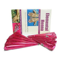 Henna Party Pack Light: 10 Henna Tattoo Pre-Mixed Mehndi Cones and Design Book