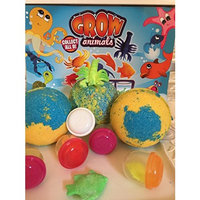 TOY SURPRISE BATH BOMB Handmade Bath Bomb Fizzies - Individually Wrapped, TOY GROW ANIMAL INSIDE EACH