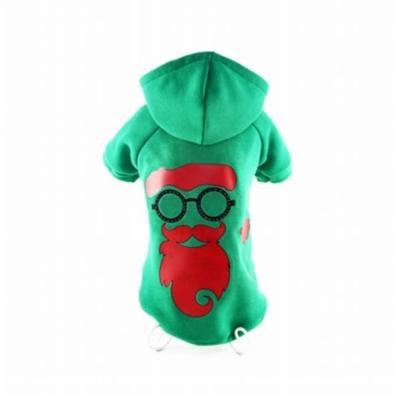 LED Lighting Cool Santa Shades Hooded Sweater Pet Costume, Small