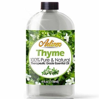 Artizen Thyme Essential Oil (100% Pure & Natural - Undiluted) Therapeutic Grade - Huge 4oz Bottle - Perfect for Aromatherapy, Relaxation, Skin Therapy & More!