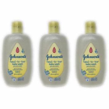 (3-Pack) Johnson's Head to Toe Baby Wash 9fl oz Bottles
