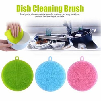 Mosunx 3Pcs Silicone Dish Washing Sponge Scrubber Kitchen Cleaning antibacterial Tool