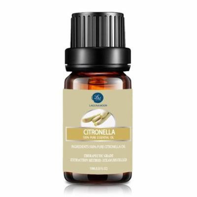 Lagunamoon 10ml Citronella Essential Oils,Pure&Natural Aromatherapy Oil For Massage And Relaxation,Premium Therapeutic Grade,Fragrance For Personal Care&Wellness