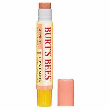 4 Pack Burt's Bees Lip Shimmer Apricot Moisturizing Lips 0.09oz Each