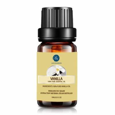 Lagunamoon 10ml Vanilla Essential Oils,Pure&Natural Aromatherapy Oil For Massage And Relaxation,Premium Therapeutic Grade,Fragrance For Personal Care&Wellness