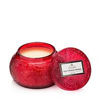 Voluspa - Japonica Embossed Glass Candle - Goji & Tarrocco Orange