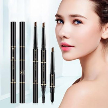 3-in-1 Eyebrow Pencil Brush Powder Natural Makeup Women's Beauty Cosmetic Tool
