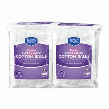 Berkley Jensen Super Jumbo Cotton Balls, 4 PACK . 100 Count Each