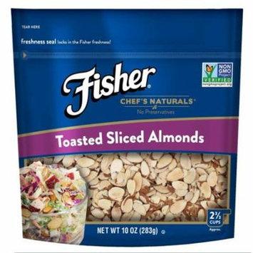 Fisher Chef's Naturals Toasted Sliced Almonds, Non-GMO, 10 oz