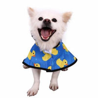 HDE Dog Raincoat Hooded Slicker Poncho for Small to X-Large Dogs and Puppies (Rubber Ducks, Small)