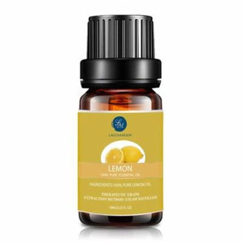 Lagunamoon 10ml Lemon Essential Oils,Pure&Natural Aromatherapy Oil For Massage And Relaxation,Premium Therapeutic Grade,Fragrance For Personal Care&Wellness