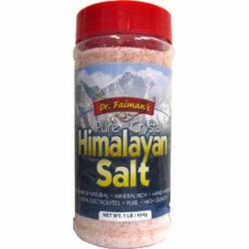 Health Garden Kosher Dr. Faiman's Pure Crystal Himalayan Pink Salt - 1 LB