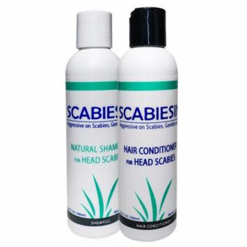 Scabiesin Anti-Scabies Shampoo and Hair Conditioner for Treatment of Scabies, Itchy Head, Greasy Scalp, Dandruff, Hair Loss.