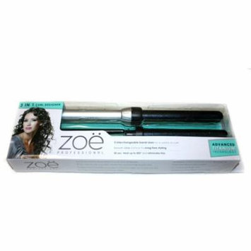 Zoe Professional 3-in-1 Hair Curler Advanced Titanium Technology Curling Wand