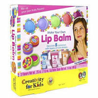 Creativity for Kids Make Your Own Lip Balm Kit Makes 5 Lip Balms Includes Customizable Containers and Handy Carrying Case with Make Your Own Water Globes