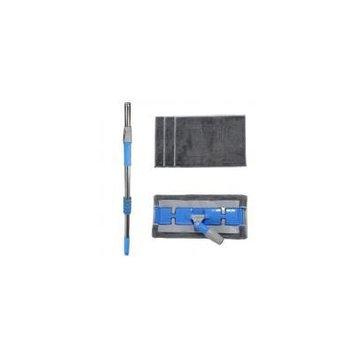 Jeobest Microfiber Dust Floor Mop - Microfiber Floor Mop Kit - Adjustable Stainless Steel Microfiber Floor Mop Kit with 4 Washable & Reusable Flat Mop Cloths/Pads for Home Kitchen Cleaning