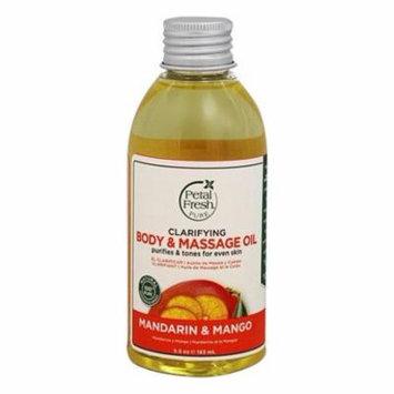 Body & Massage Oil Clarifying Mandarin & Mango - 5.5 fl. oz. by Petal Fresh (pack of 2)