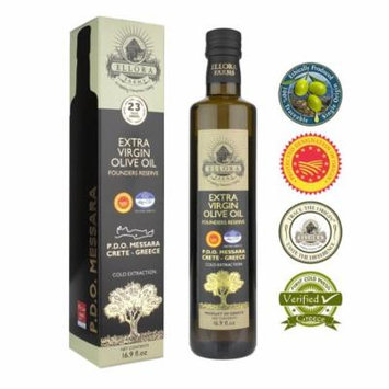 Ellora Farms Award-Winning Extra Virgin Olive Oil | Monocultivar Koroneiki | Single Sourced PDO Messara Valley, Crete Greece | High Polyphenols | Unrefined | Kosher | Large 16.9 FL oz