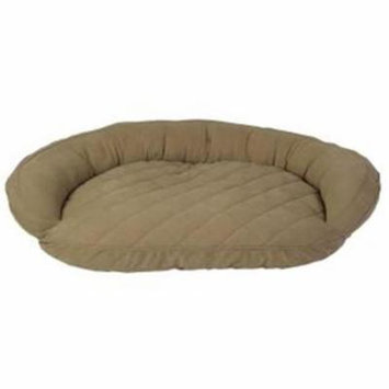 Carolina Pet 019380 Microfiber Quilted Poly Fill Bolster Bed - Sage, Medium