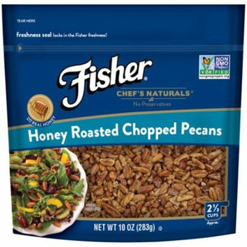 Fisher Chef's Naturals Honey Roasted Chopped Pecans, Non-GMO, 10 oz