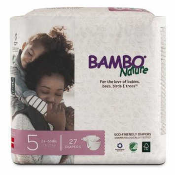 Bambo Nature Eco Friendly Premium Baby Diapers for Sensitive Skin, Sizes 1 - 6 Available