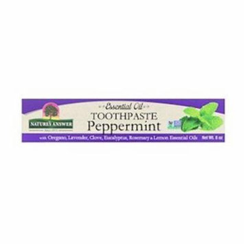 Natures Answer 83750 8oz Essential Oil Toothpaste, Peppermint - Case of 12