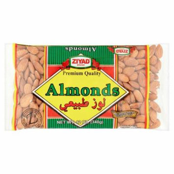 Ziyad Almonds Raw Whole,12 Oz (Pack Of 12)